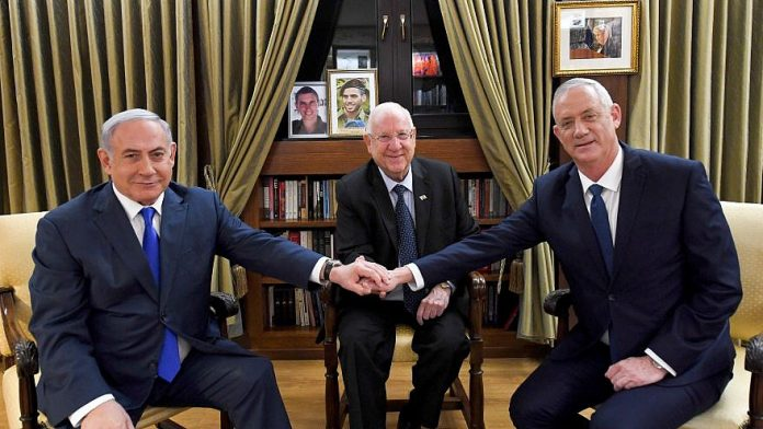 Netanyahu e Gantz negoziano con il Presidente Rivlin la formazione di un governo