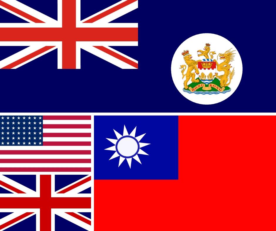 Bandiere indipendenza Hong Kong potenze straniere