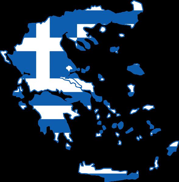 Mappa con bandiera ellenica