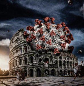 Terrorismo e coronavirus. Virus attacca il Colosseo