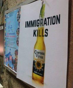Terrorismo e coronavirus. Manifesto di estrema destra