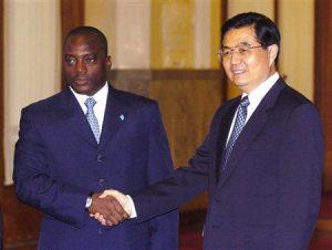 I presidenti di Cina e RDC