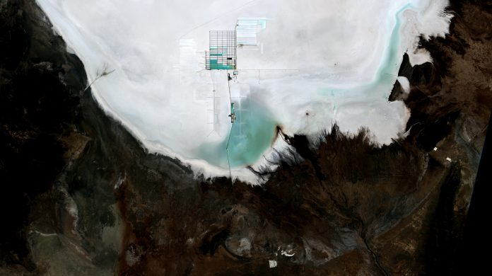 Estrazione di litio, Salar de Uyuni -Bolivia
