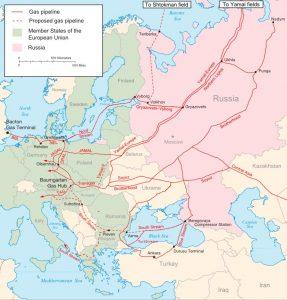 I principali gasdotti della Russia