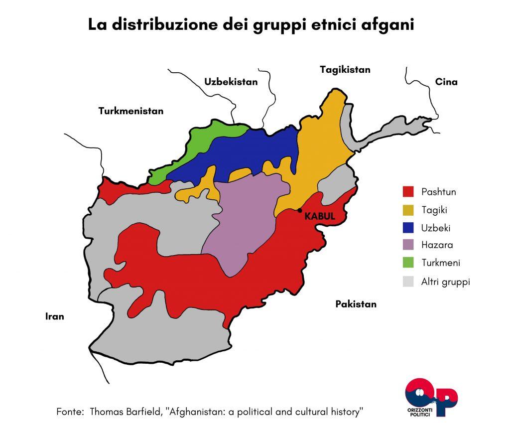 afghanistan talebani mappa etnie